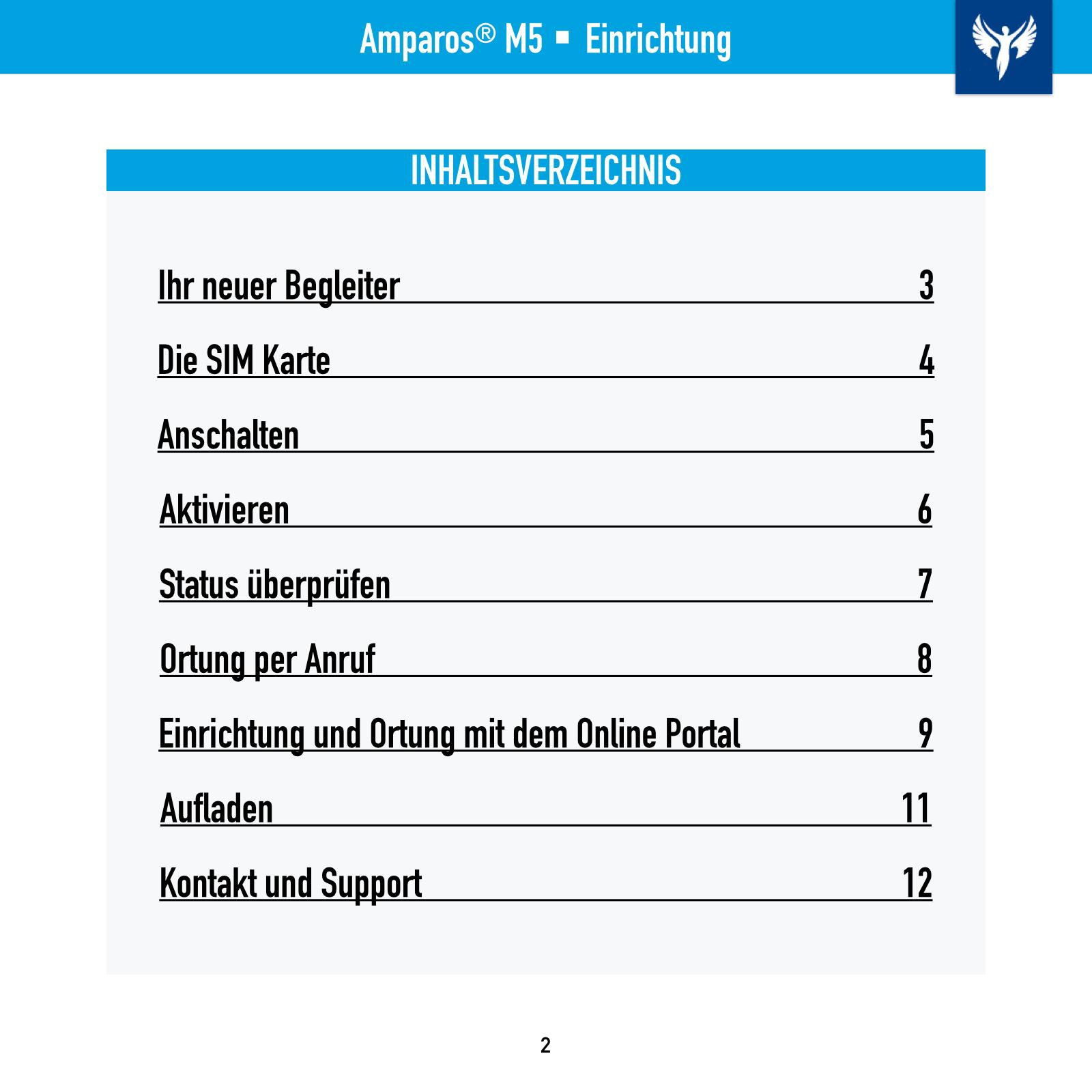 Amparos M5 Einrichtungshilfe