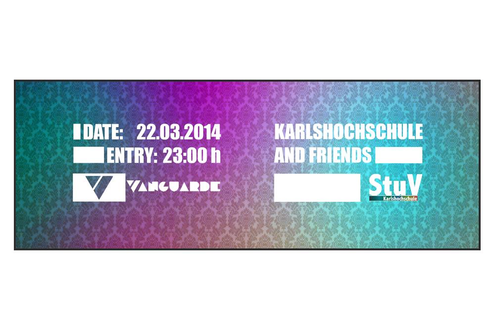 StuV Karlshochschule Eintrittskarte