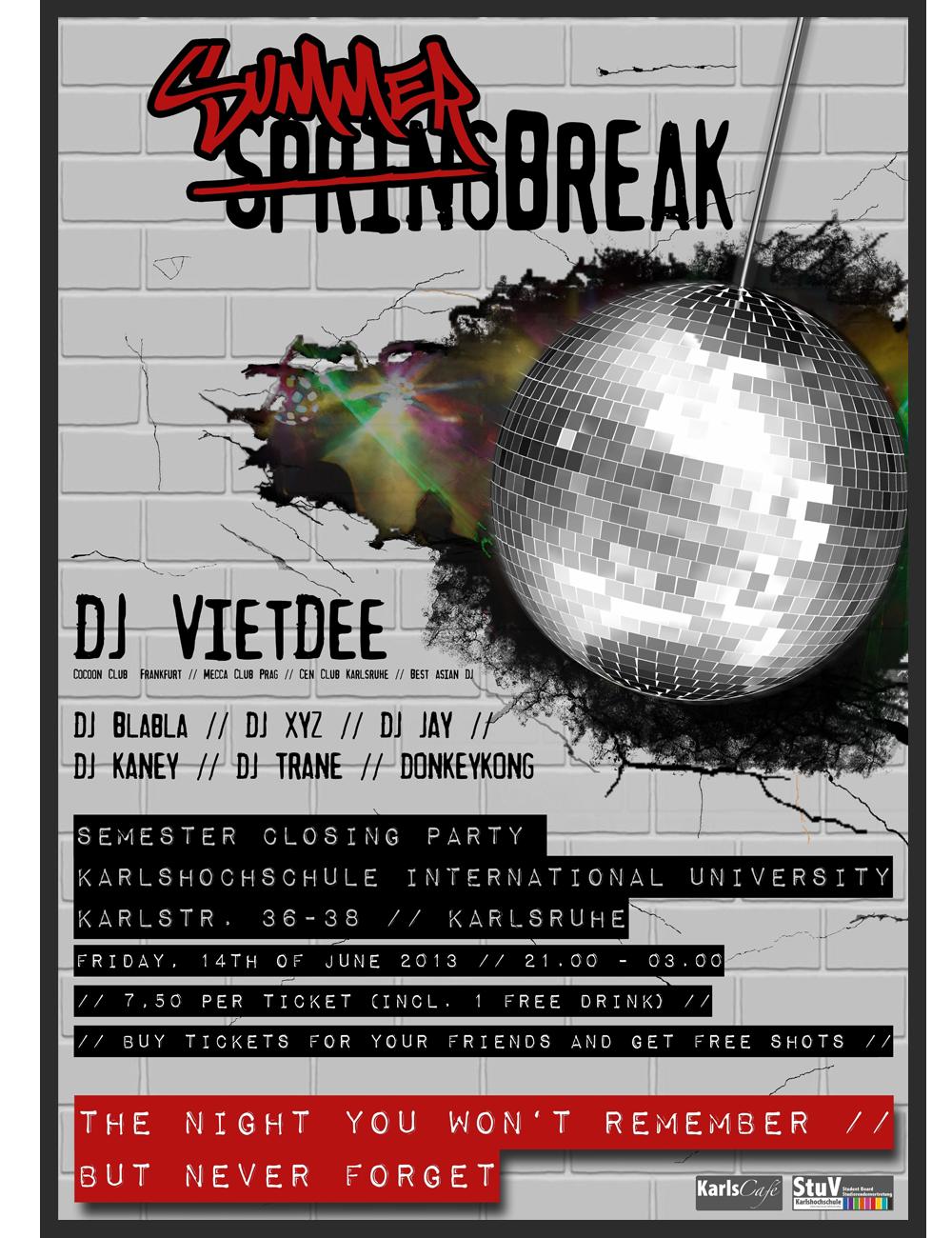 Summer SpringBreak Poster