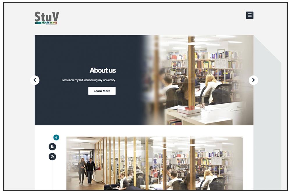 StuV Karlshochschule Website